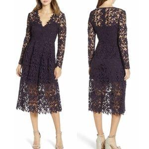 NWT ASTR Eggplant Lace Dress Size Large